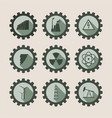 energy and power icons set vector image vector image