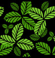 fashion seamless pattern with greenery leaves vector image vector image