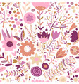 floral seamless pattern sketch for your design vector image