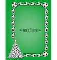 Frame with soccer balls vector image vector image