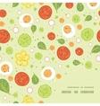 fresh salad frame corner pattern background vector image vector image