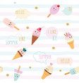 funny summer seamless pattern background vector image