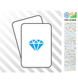 gem cards with bonus vector image vector image