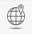 global location transfer icon vector image vector image