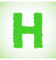 grass letter H vector image vector image