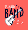 guitar and slogans vector image vector image