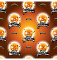 Halloween seamless pattern with moon scary faces vector image vector image