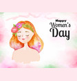 happy womens day celebration greeting card vector image vector image