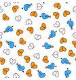 hearts pattern on a background vector image vector image
