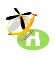 icon helicopter vector image vector image
