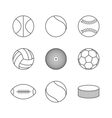 Icons balls vector image vector image