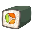 Japan sushi roll icon cartoon style vector image vector image