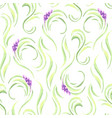 Lavender flowers seamless pattern watercolor