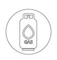 liquid propane gas icon vector image vector image