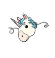 mask cute unicorn vector image
