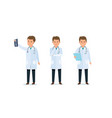 medical worker doctor acquainted with results vector image vector image