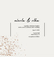 modern plain card decortion with golden splatter vector image