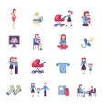 Motherhood Flat Icons Set vector image vector image