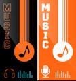 music banner or flyer design vector image vector image