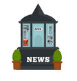 newspaper or magazine booth shop flat vector image vector image