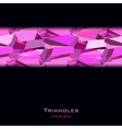Pink abstract geometric background vector image vector image