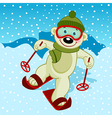 polar bear skier vector image