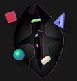 pop art love neon and shadow vector image vector image