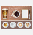realistic coffee concept vector image