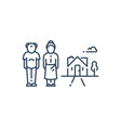 retired old people senior couple and summer house vector image