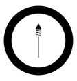 rockets for fireworks icon black color in circle vector image vector image