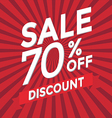 Sale 70 percent off discount vector image vector image