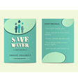 Save water conference flyer and poster invitation vector image vector image