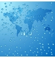Save world water concept background vector image