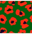 Seamless pattern of bright poppies Floral pattern vector image vector image