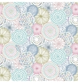 Seamless pattern with hand drawn fancy circle vector image vector image
