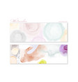 set bright watercolor hand-painted backgrounds vector image