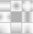 Set of nine monochrome diagonal square patterns vector image vector image