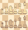 Sketch chess figurel in vintage style vector image vector image