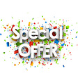 Special offer paper background vector image vector image