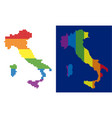 spectrum pixel dotted italy map vector image