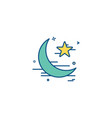 star and moon icon design vector image vector image