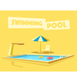 Swimming pool with a diving board Cartoon vector image vector image