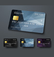 templates of credit debit bank cards with black vector image