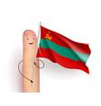 transnistria waving flag vector image