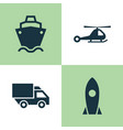 transport icons set collection of spaceship vector image vector image
