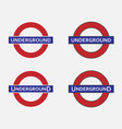 underground station sign vector image vector image