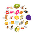 useful substance icons set isometric style vector image vector image