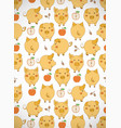vertical greeting card with cute cartoon yellow vector image vector image