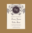 wedding invitation and save the date cards vector image vector image