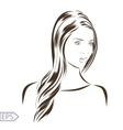 Woman portrait on a background vector image